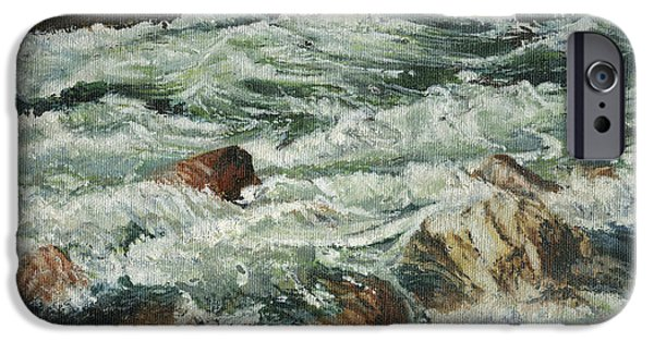 Rapids iPhone Cases - White Water Rapids iPhone Case by Don  Langeneckert