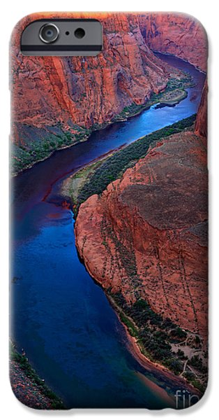 Harsh iPhone Cases - Colorado River Bend iPhone Case by Inge Johnsson