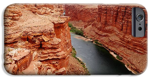Grand Canyon iPhone Cases - Colorado River From Navajo Bridge iPhone Case by Dan Sproul