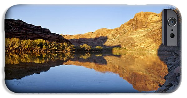 Slickrock iPhone Cases - Colorado River Reflection iPhone Case by Brian Kamprath
