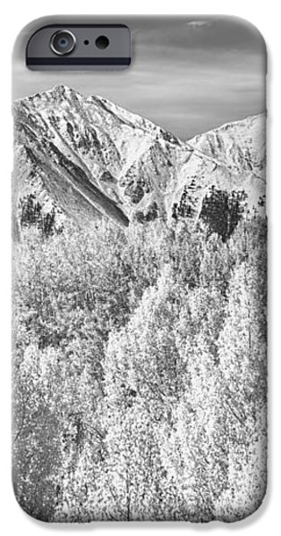 Colorado Rocky Mountain Autumn Beauty BW iPhone Case by James BO  Insogna