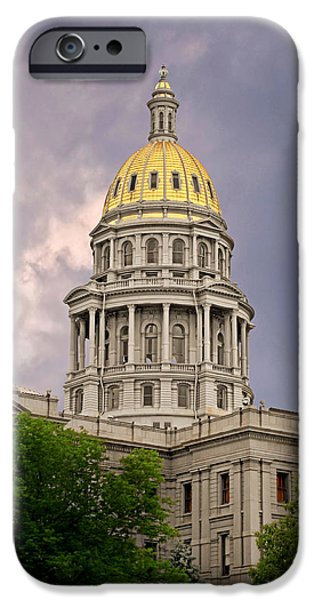 Colorado State Capitol Building Denver CO iPhone Case by Christine Till