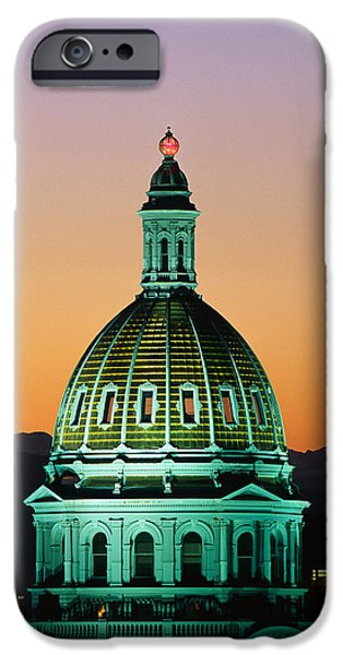 Historic Site Photographs iPhone Cases - Colorado State Capitol Building Denver iPhone Case by Panoramic Images