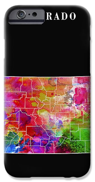 Fort Collins Digital Art iPhone Cases - Colorado State iPhone Case by Daniel Hagerman