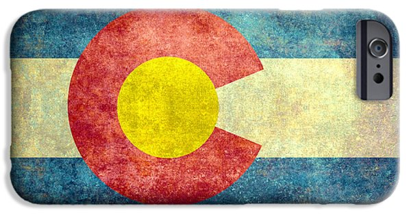Election iPhone Cases - Colorado State flag iPhone Case by Bruce Stanfield