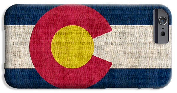 Declaration Of Independence Digital iPhone Cases - Colorado state flag iPhone Case by Pixel Chimp