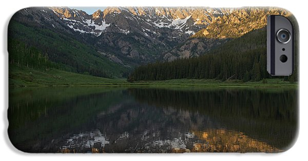 Gore iPhone Cases - Colorado Sunset - Piney Lake iPhone Case by Aaron Spong