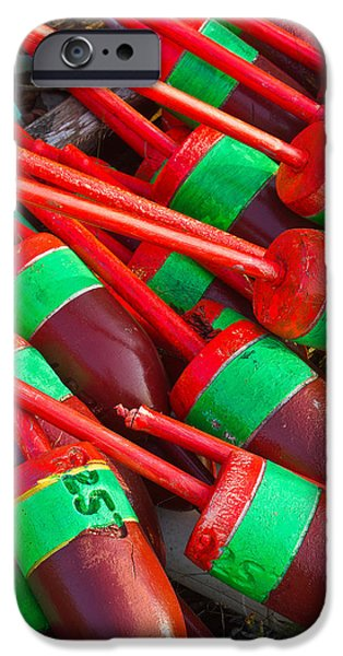 Bouys iPhone Cases - Colored Bouys iPhone Case by Benjamin Williamson