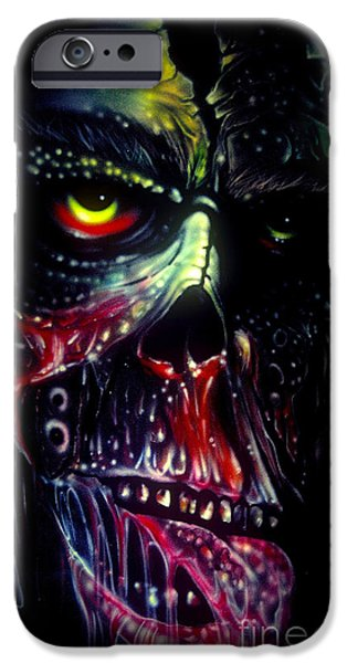 Recently Sold -  - Airbrush iPhone Cases - Colored Decay iPhone Case by Frankie  Caron