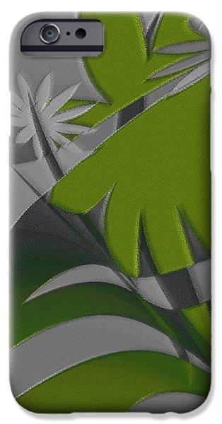 Ben Gertsberg Digital Art iPhone Cases - Colored Jungle Green iPhone Case by Ben and Raisa Gertsberg
