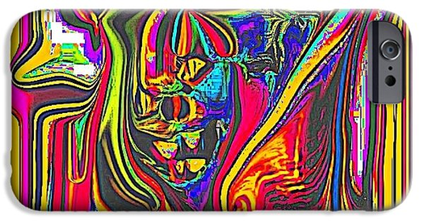 """indoor"" Still Life Digital Art iPhone Cases - colorful 3D iPhone Case by HollyWood Creation By linda zanini"