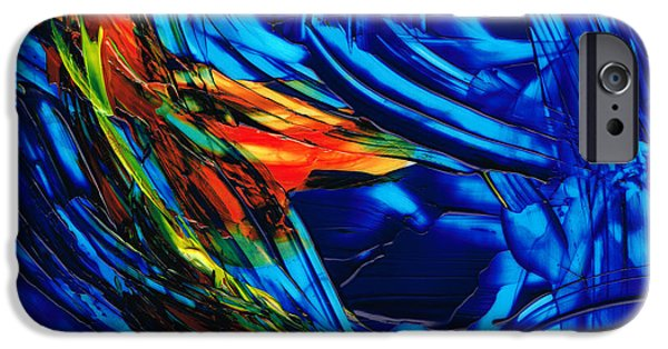 Abstract Movement iPhone Cases - Colorful Abstract Art - Energy Flow 1 - By Sharon Cummings iPhone Case by Sharon Cummings