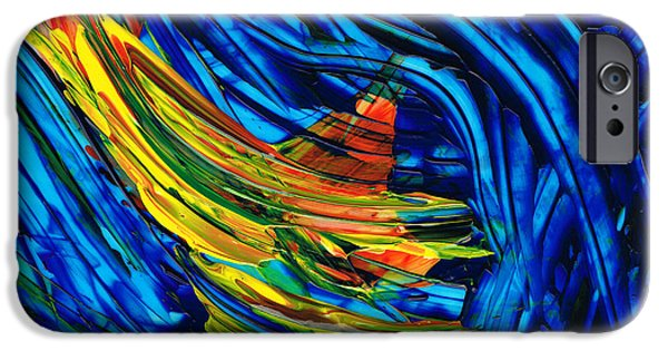 Abstract Movement iPhone Cases - Colorful Abstract Art - Energy Flow 5 - By Sharon Cummings iPhone Case by Sharon Cummings