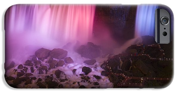 Niagara Falls iPhone Cases - Colorful American Falls iPhone Case by Adam Romanowicz