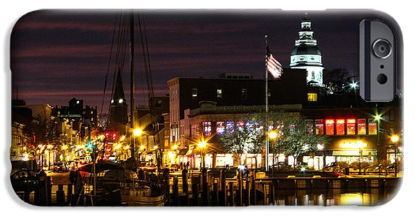 Annapolis iPhone Cases - Colorful Annapolis Evening iPhone Case by Jennifer Casey