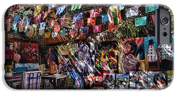 Baja iPhone Cases - Colorful Art Store in Mexico iPhone Case by David Smith