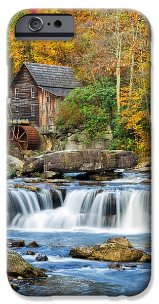 Grist Mill iPhone Cases - Colorful Autumn Grist Mill iPhone Case by Lori Coleman