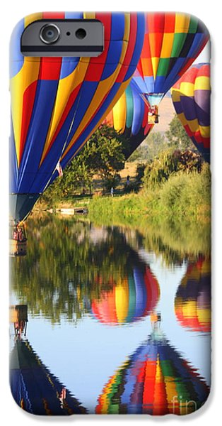 Hot Air Balloon iPhone Cases - Colorful Balloons Fill the Frame iPhone Case by Carol Groenen