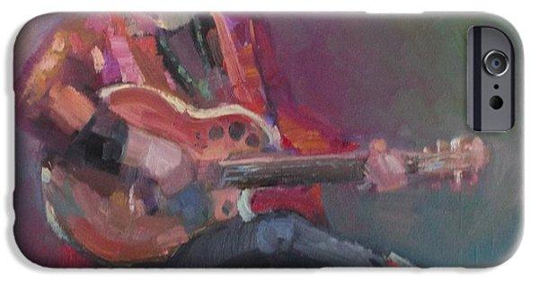 Eva Marie iPhone Cases - Colorful Blues Singer iPhone Case by Eva Marie Tanner-Klaas