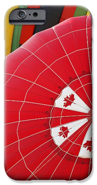 Freedom iPhone Cases - Colorful Calloon Canadian Red iPhone Case by Jamie Roach