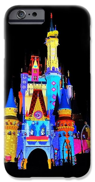 Magic Kingdom iPhone Cases - Colorful Castle iPhone Case by Benjamin Yeager