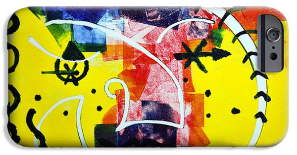 Printmaking iPhone Cases - Colorful Circus iPhone Case by Alexandra Jordankova