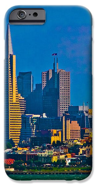 Colorful City By The Bay iPhone Case by Mitch Shindelbower
