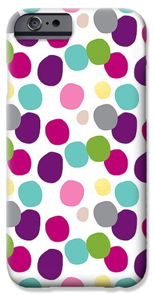 Celebration Mixed Media iPhone Cases - Colorful Confetti 2 iPhone Case by Linda Woods