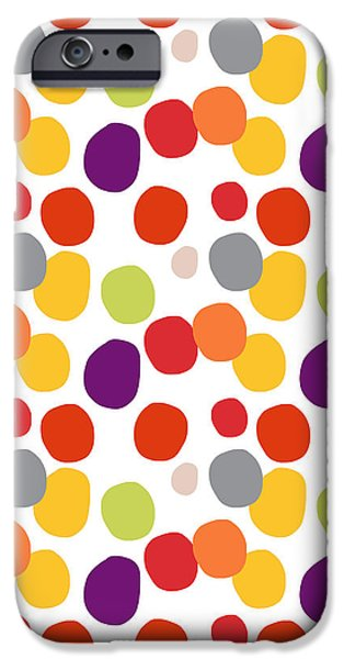 Circles iPhone Cases - Colorful Confetti  iPhone Case by Linda Woods