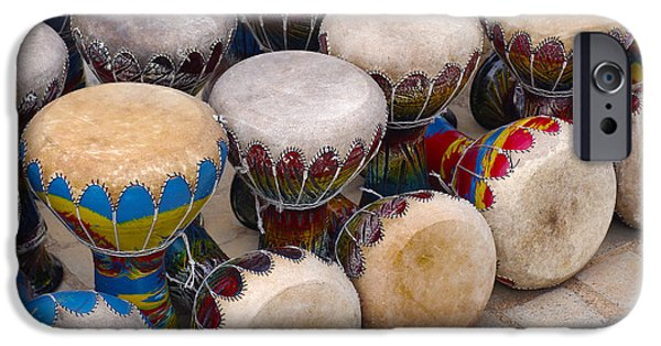 Artisan iPhone Cases - Colorful Congas iPhone Case by Carlos Caetano