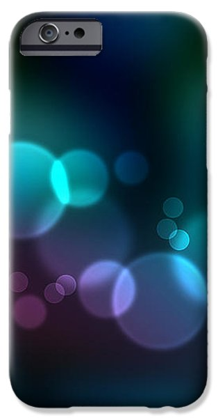 Colorful defocused lights iPhone Case by Aged Pixel