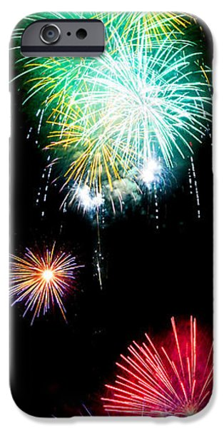 4th July iPhone Cases - Colorful Explosions No3 iPhone Case by Weston Westmoreland