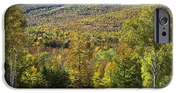 Maine Photographs iPhone Cases - Colorful Fall Landscape From Center Hill in Weld Maine iPhone Case by Keith Webber Jr