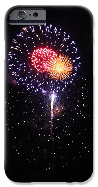 July iPhone Cases - Colorful Fireworks iPhone Case by Mariah Allen