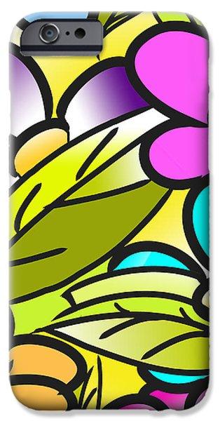 Colorful Floral Nursery Wall Art iPhone Case by Nursery Art