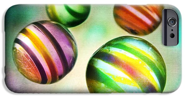 Glasses Photographs iPhone Cases - Colorful Glass Marbles iPhone Case by Marianna Mills