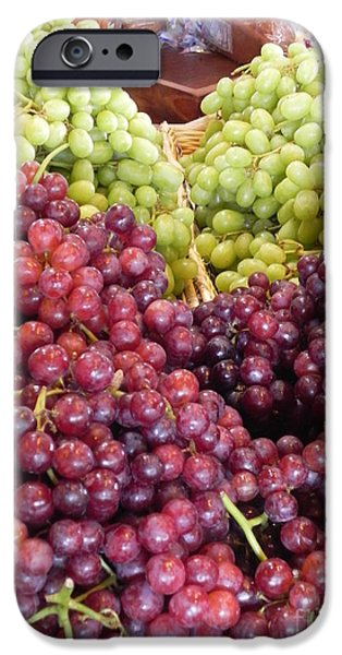 Berry iPhone Cases - Colorful Grapes iPhone Case by Chrisann Ellis
