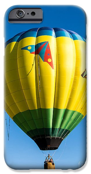 Hot Air Balloon iPhone Cases - Colorful Hot Air Balloon over Vermont iPhone Case by Edward Fielding