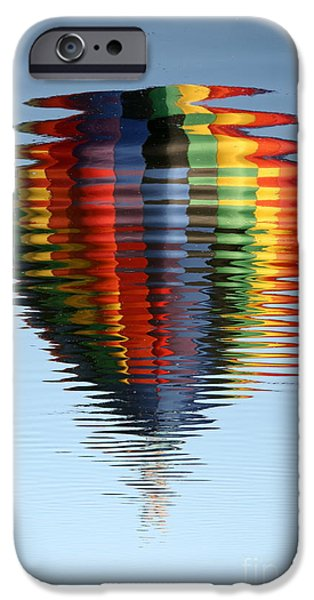 Hot Air Balloon iPhone Cases - Colorful Hot Air Balloon Ripples iPhone Case by Carol Groenen