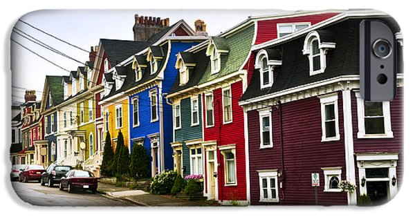 Newfoundland iPhone Cases - Colorful houses in Newfoundland iPhone Case by Elena Elisseeva