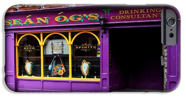 Moran iPhone Cases - Colorful Irish Pub iPhone Case by Aidan Moran