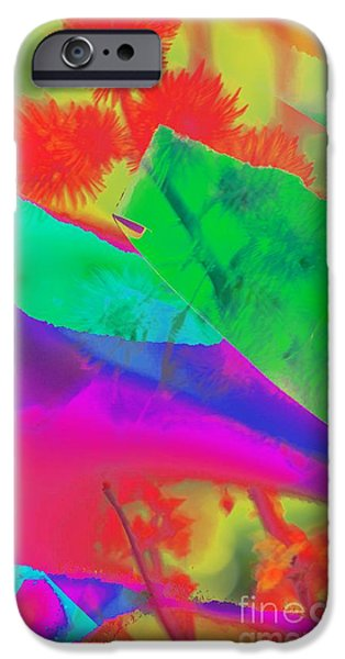 Red Abstract iPhone Cases - Colorful iPhone Case by Kathleen Struckle