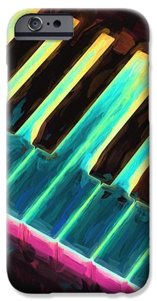 Collectible Mixed Media iPhone Cases - Colorful Keys iPhone Case by Bob Orsillo