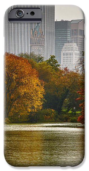 Colorful magic in Central Park New York City Skyline iPhone Case by Silvio Ligutti