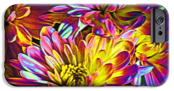 Recently Sold -  - Flora iPhone Cases - Colorful Mums iPhone Case by Valentina Tkachuk