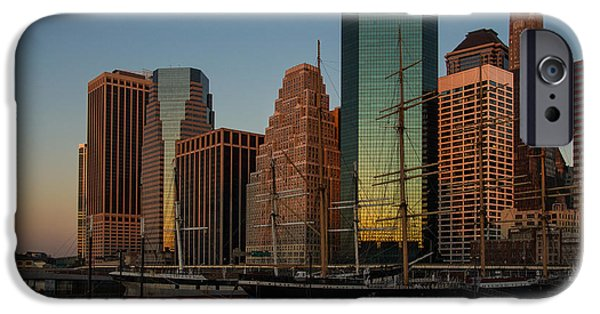 Tall Ship iPhone Cases - Colorful New York  iPhone Case by Georgia Mizuleva
