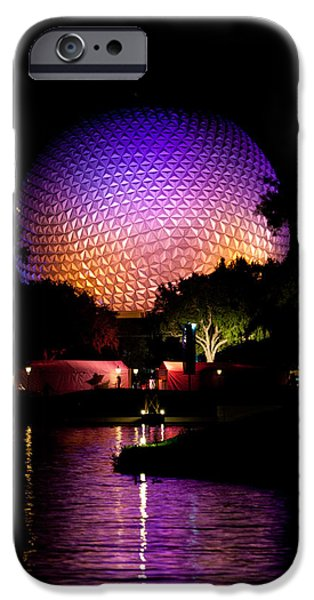 Michelle iPhone Cases - Colorful Night at Epcot iPhone Case by Michelle Wiarda