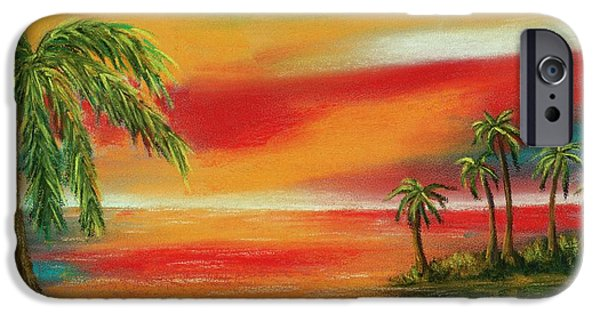 Ocean Pastels iPhone Cases - Colorful Paradise iPhone Case by Anastasiya Malakhova