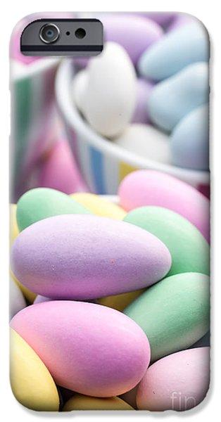 Jordan iPhone Cases - Colorful pastel jordan almond candy iPhone Case by Edward Fielding