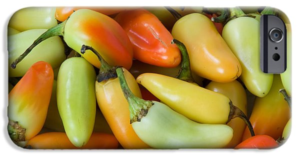Hot Peppers iPhone Cases - Colorful Peppers iPhone Case by James BO  Insogna